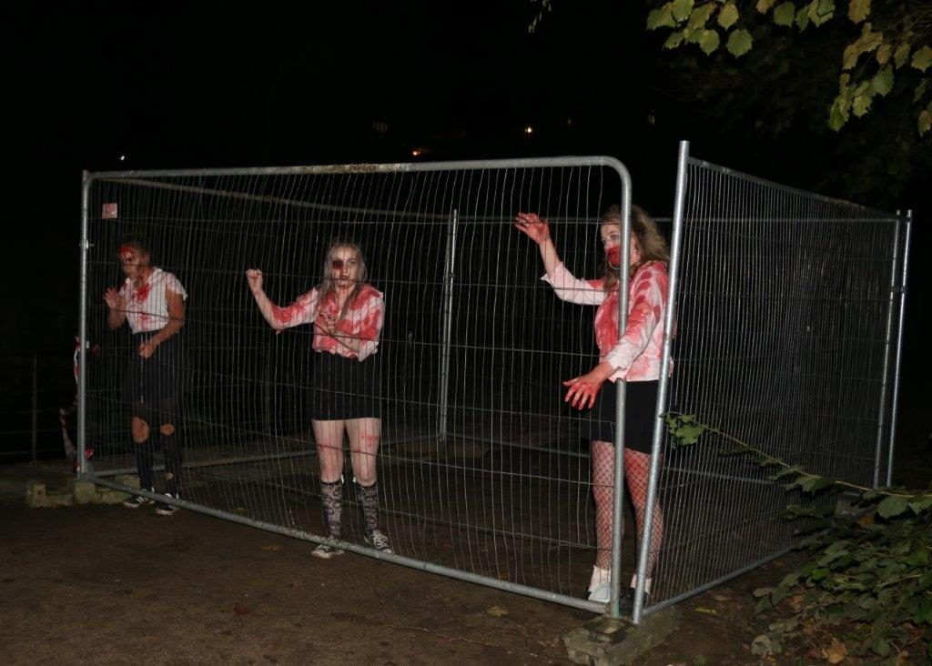 Caged Zombie Schoolgirls at Spooktacular 2017