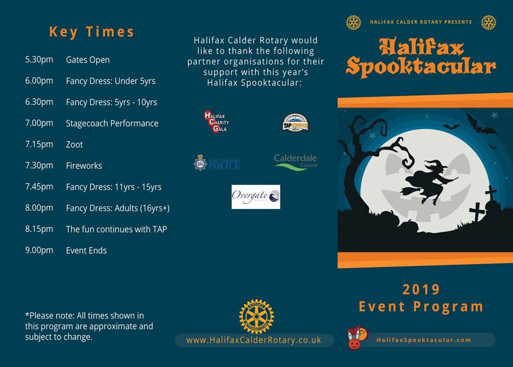 Halifax Spooktacular 2019 Program Outside